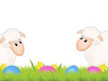 Easter sheep and eggs Royalty Free Stock Image