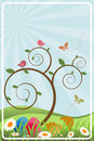 Easter spring frame Royalty Free Stock Photo