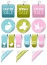Easter or Spring Sale Elements Set