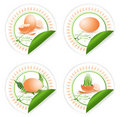Easter stickers Royalty Free Stock Photography