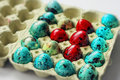 Easter stilllife. Colored eggs Royalty Free Stock Photo