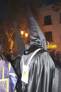 Easter sunday procession in nerja spain the processions start on maunday thursday and finish on the statue from the church of el Royalty Free Stock Photography