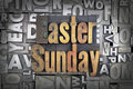 Easter sunday written in vintage letterpress type Stock Images