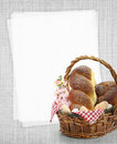 Easter sweet bread and recipe card Stock Images