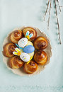 Easter sweet bread wreath traditional Royalty Free Stock Image