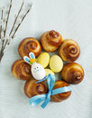 Easter sweet bread wreath traditional Stock Image