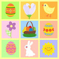 Easter symbols set Stock Photography