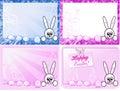 Easter szczęśliwe karty Zdjęcie Stock