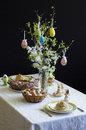 Easter table superb traditional romanian Royalty Free Stock Image