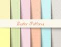 Easter tartan patterns Vector illustration
