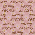 Easter text seamless pattern