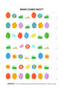 Easter themed educational logic game - sequential pattern recognition