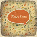 Easter vintage background. Royalty Free Stock Images