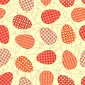 Easter yellow seamless pattern. Stock Images