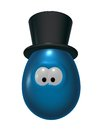Easteregg with topper funny easter egg tophat d illustration Stock Images
