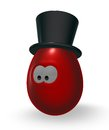 Easteregg with topper funny easter egg tophat d illustration Royalty Free Stock Image