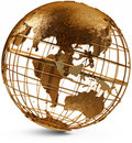 Eastern Hemisphere Globe Royalty Free Stock Photo