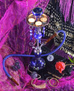 Eastern luxury romantic composition of hookah rose and book Royalty Free Stock Image