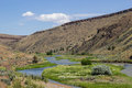 Eastern oregon tranquil scene in along a stream Stock Image