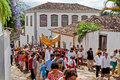 Eastern Procession Tiradentes Brazil Royalty Free Stock Photo