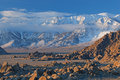 Eastern Sierra Nevada Mountains Stock Image