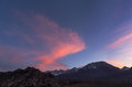 Eastern Sierra Sunset Royalty Free Stock Photo