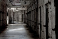 Eastern state penitentiary cell corridor in disarray with incoming window light Stock Image