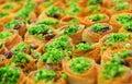 Eastern sweets, baklava Royalty Free Stock Photo