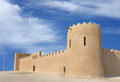 Eastern tower and South Eastern wall of Riffa Fort Stock Photos