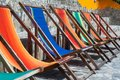 Easy Chairs in Different Colors Royalty Free Stock Photo