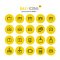 Easy icons 05c Briefcases Royalty Free Stock Photo
