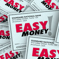 Easy money check pile passive income effortless free fast paymen words on checks in a to illustrate payment or winnings adding to Stock Photos