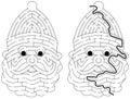 Easy Santa Claus maze
