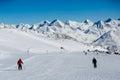 Easy ski slope Royalty Free Stock Photo