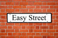 Easy street sign. Royalty Free Stock Photography