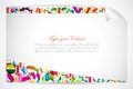 Easy to edit vector illustration colorful alphabet education background Stock Image