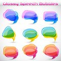 Easy to edit vector illustration of colorful chat bubble Royalty Free Stock Images