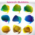 Easy to edit vector illustration of colorful chat bubble Royalty Free Stock Photography