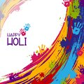 Colorful Happy Hoil background for festival of colors in India