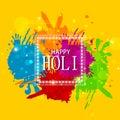Colorful splash for Holi background