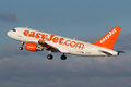 Easyjet airline prague czech republic january airbus a takes off from prg airport on january is the low cost of Royalty Free Stock Photography