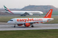 Easyjet airline prague czech republic march airbus a lands at prg airport on march is the second largest low cost carrier Stock Photos