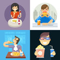 Eat food italian asta pizza spaghetti noodles popcorn hamburger dinner wine soda vine symbol icon concept Isolated flat