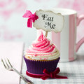 Eat me cupcake Royalty Free Stock Image