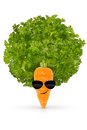 Eat your organic vegetables and be cool kids Royalty Free Stock Images
