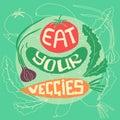 Eat your veggies Royalty Free Stock Photo