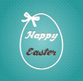 Eater card with egg and bow holiday illustration Stock Images