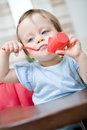 Eating baby Royalty Free Stock Photo