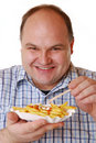Eating french fries Stock Photography