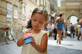 Eating gelato in Florence Royalty Free Stock Image